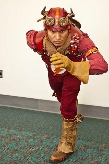 Steampunk Flash cosplay