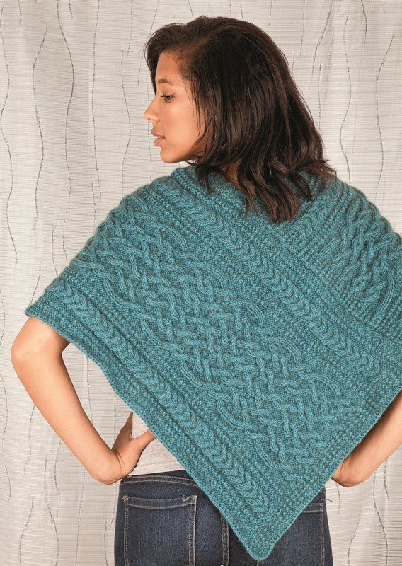 Double Knitting Patterns For Poncho : knit poncho pattern Cozy cable poncho Love of Knitting ...