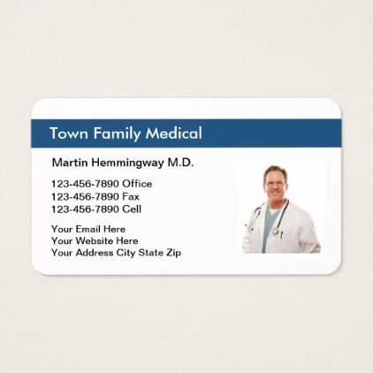 Family Doctor Photo Replace Business Card