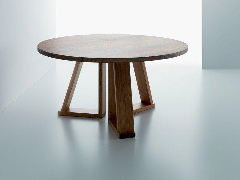 tavoli legno massiccio rotondi - Google Search | Forniture Ideas ...