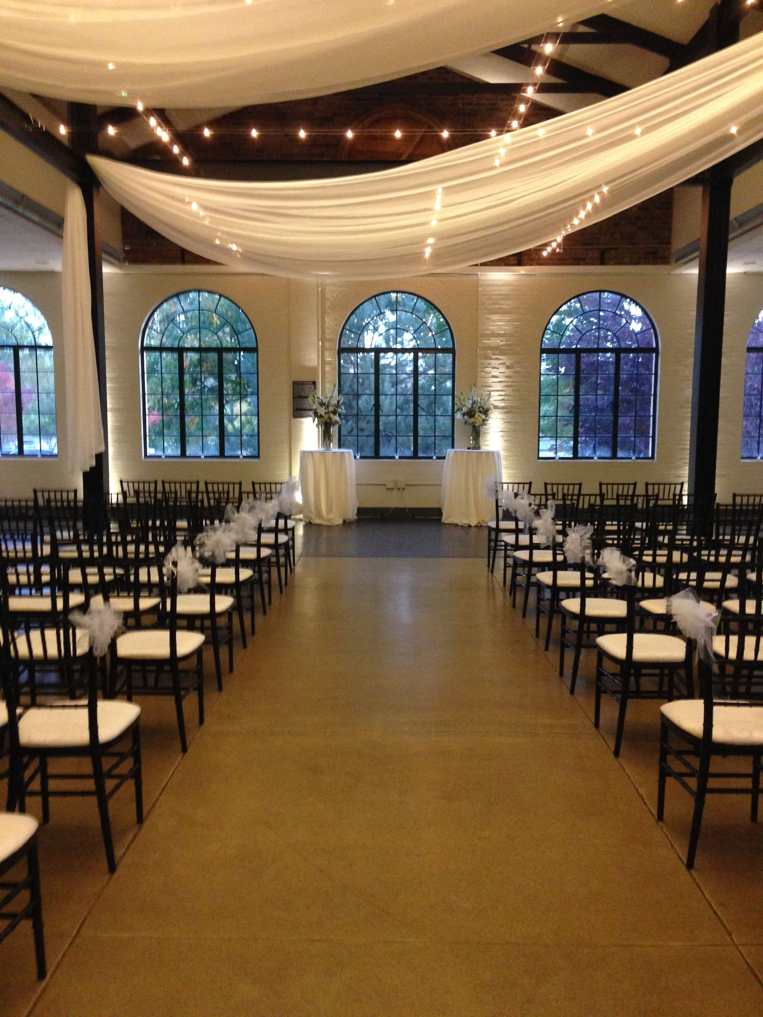 The Visitor Center In Forest Park Wedding Ceremony