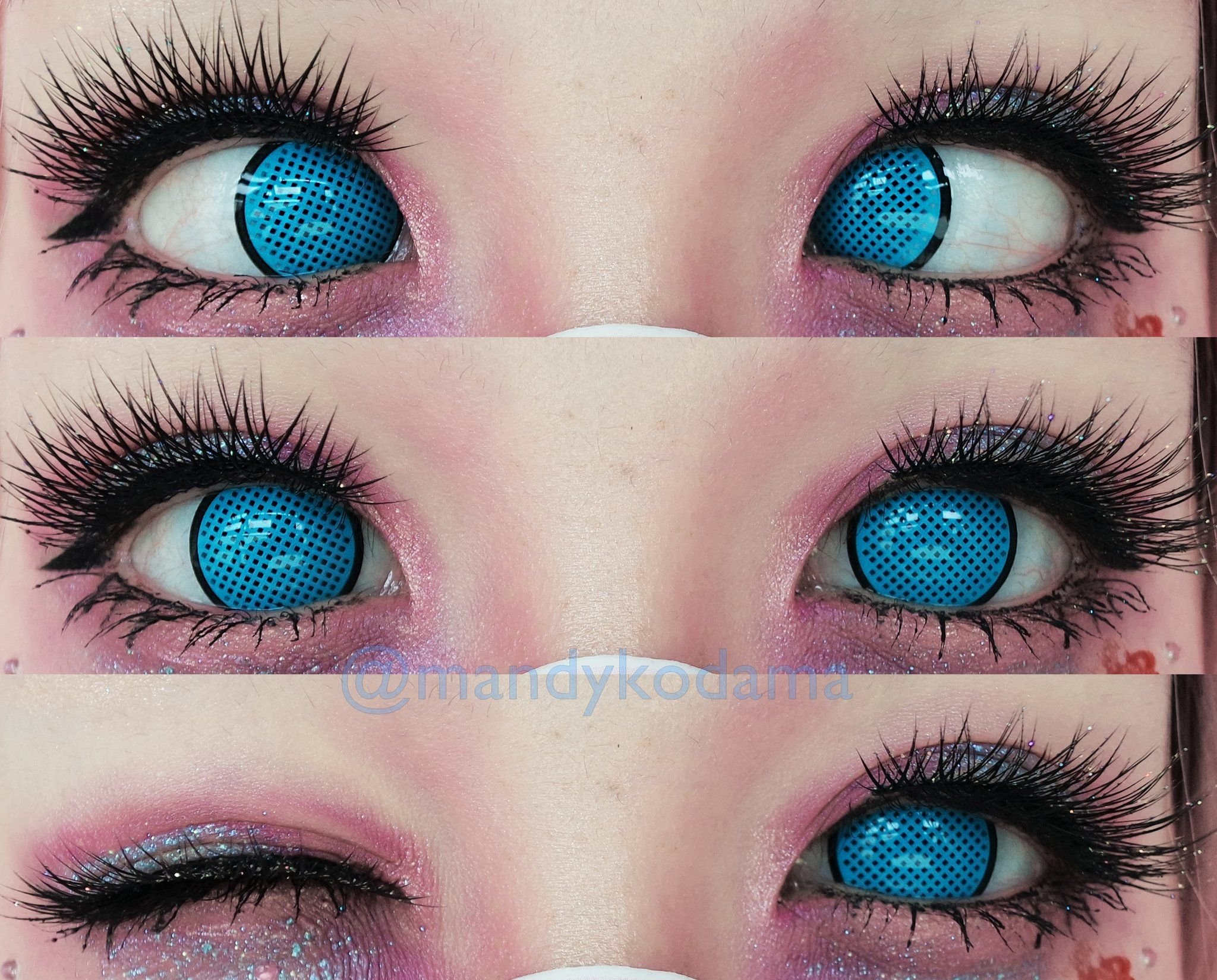 Sweety Crazy Lens Cyan Mesh Blue Screen Uniqso Contact Lenses Colored Halloween Contact Lenses Black Contact Lenses