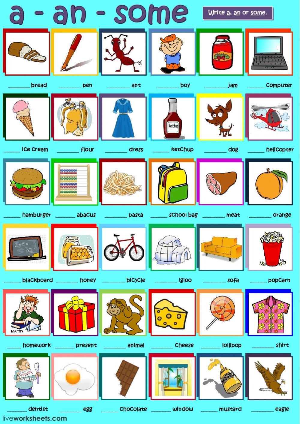 Determiners interactive and downloadable worksheet. You can do the ...