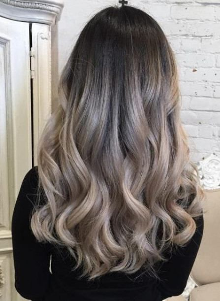 Dark Roots With Ashy Blonde Strands Ash Blonde And Silver