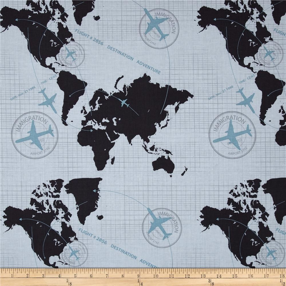 Riley blake detour map grey from fabricdotcom designed by bo bunny riley blake detour map grey from designed by bo bunny for riley blake designs this cotton print fabric is perfect for crafts quilting apparel and home gumiabroncs Images