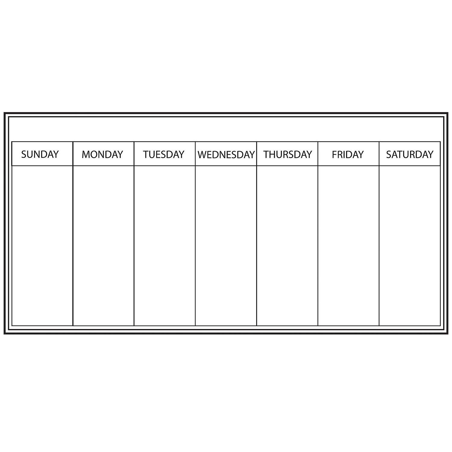 White Weekly Dry Erase Planner