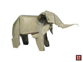 Origami elefante por Origamikuenstler