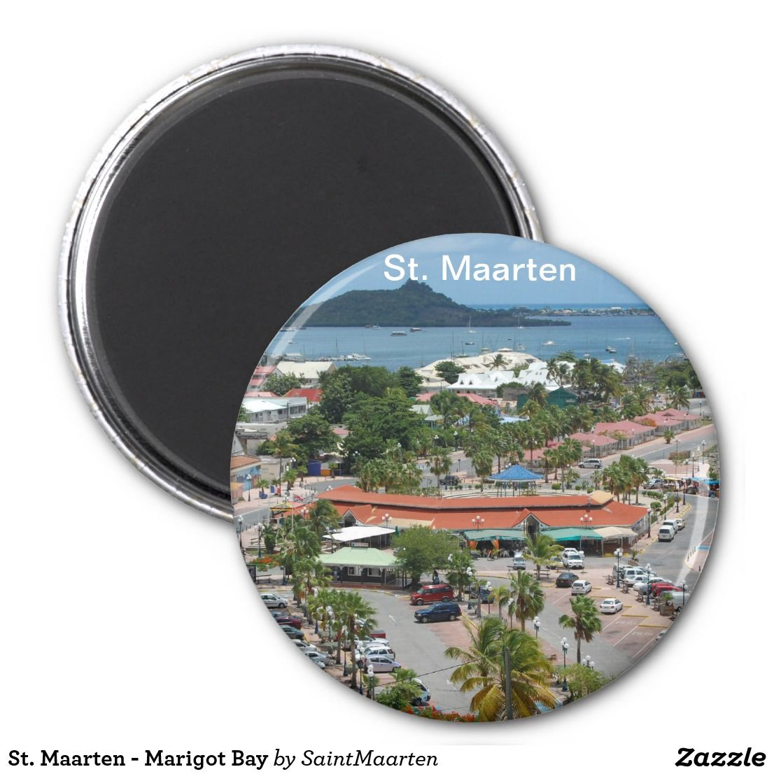 St. Maarten - Marigot Bay Magnet by Khoncepts (sold in Norway) Thank you!