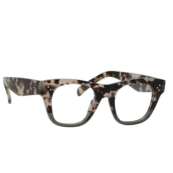 81d27f27e660 Céline Havana Gray Square Eyeglasses ( 150) ❤ liked on Polyvore featuring  accessories