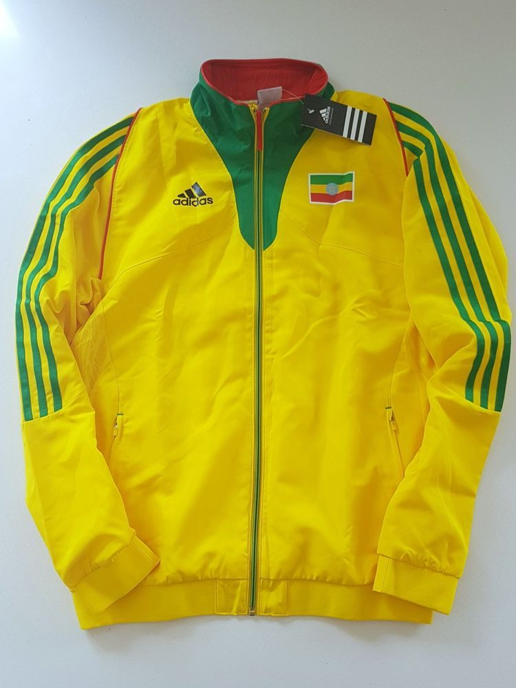 130b1136b3 ADIDAS ETHIOPIA PRO ELITE TRACK AND FIELD JACKET RUNNING OLYMPIC MEN S RARE  (S)  adidas  TrackAndField  Athletics  Running  Olympics  IAAF  Ethiopia ...
