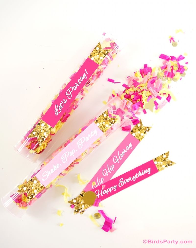 How to Make DIY Confetti Poppers for Your Party - Fun bridal shower or bachelorette party idea