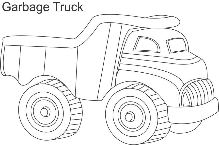 Garbage truck coloring page for kids | Doll furnishings | Pinterest ...