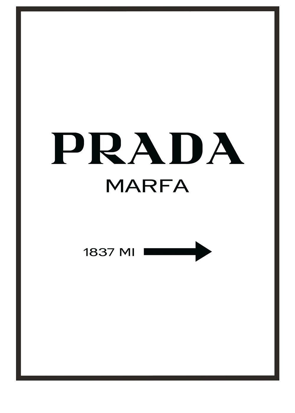 premium poster set prada marfa wallart