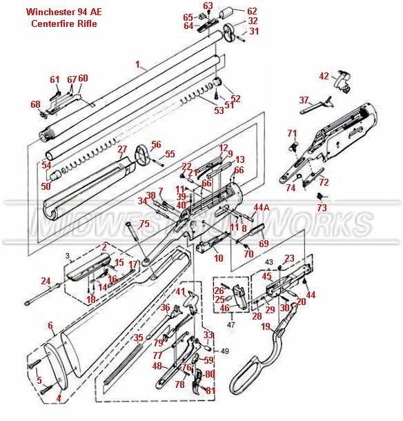 Winchester 94 Schematic | Guns up Funs up | Pinterest | Guns ...