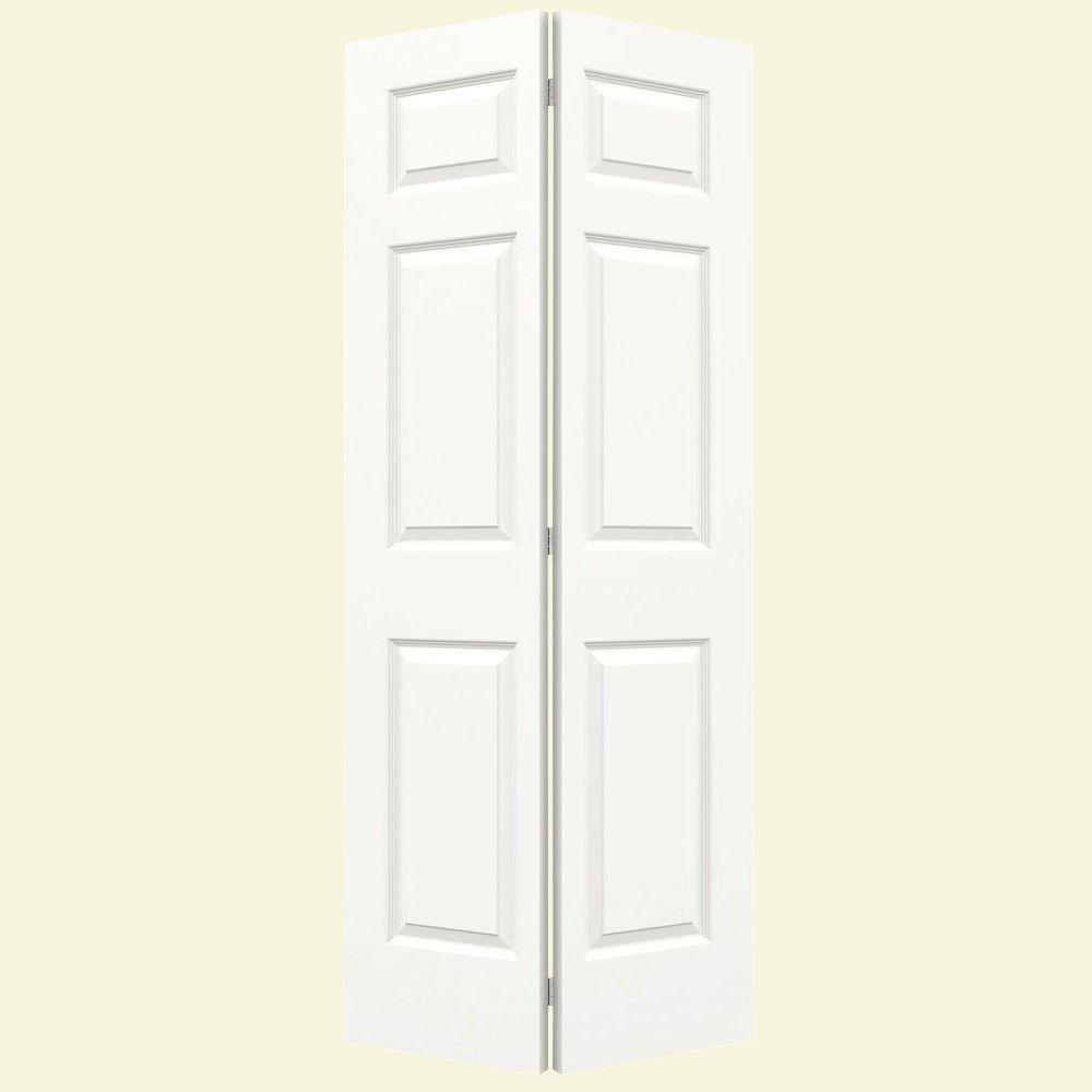 Jeld Wen 36 In X 80 In Colonist White Painted Smooth Molded Composite Mdf Closet Bi Fold Door Thdjw159900123 Bifold Closet Doors Bifold Doors Doors Interior