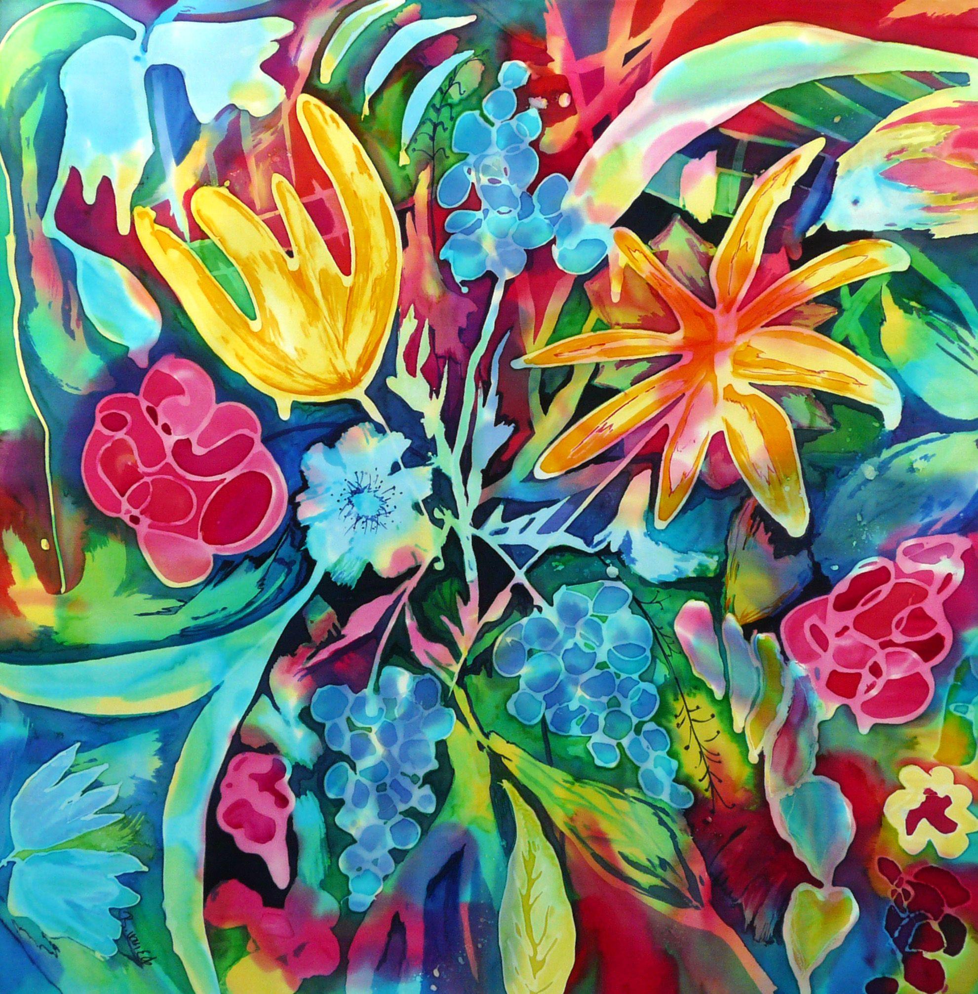 Blumen, Seidenmalerei | Malerei | Pinterest | Seidenmalerei, Blumen ...
