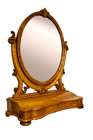 Victorian Maple Wood Dressing Table Mirror c.  Dressing