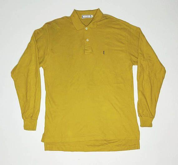 YSL Embroidered Logo Polo Shirt Size M zF0khhwL6n