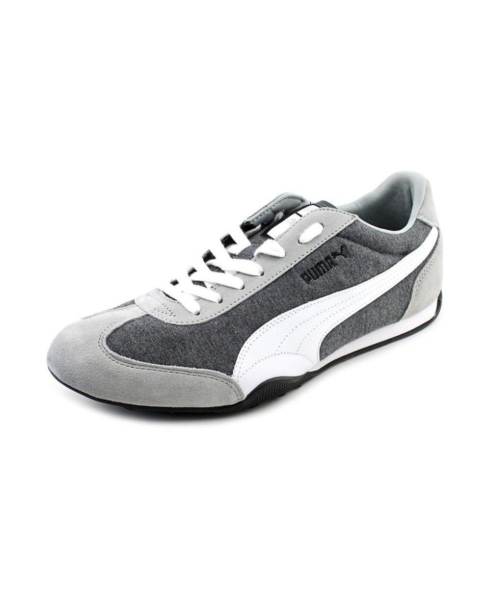 PUMA Puma 76 Runner Jersey Men Round Toe Canvas Gray Sneakers .  puma   c4200ad6a