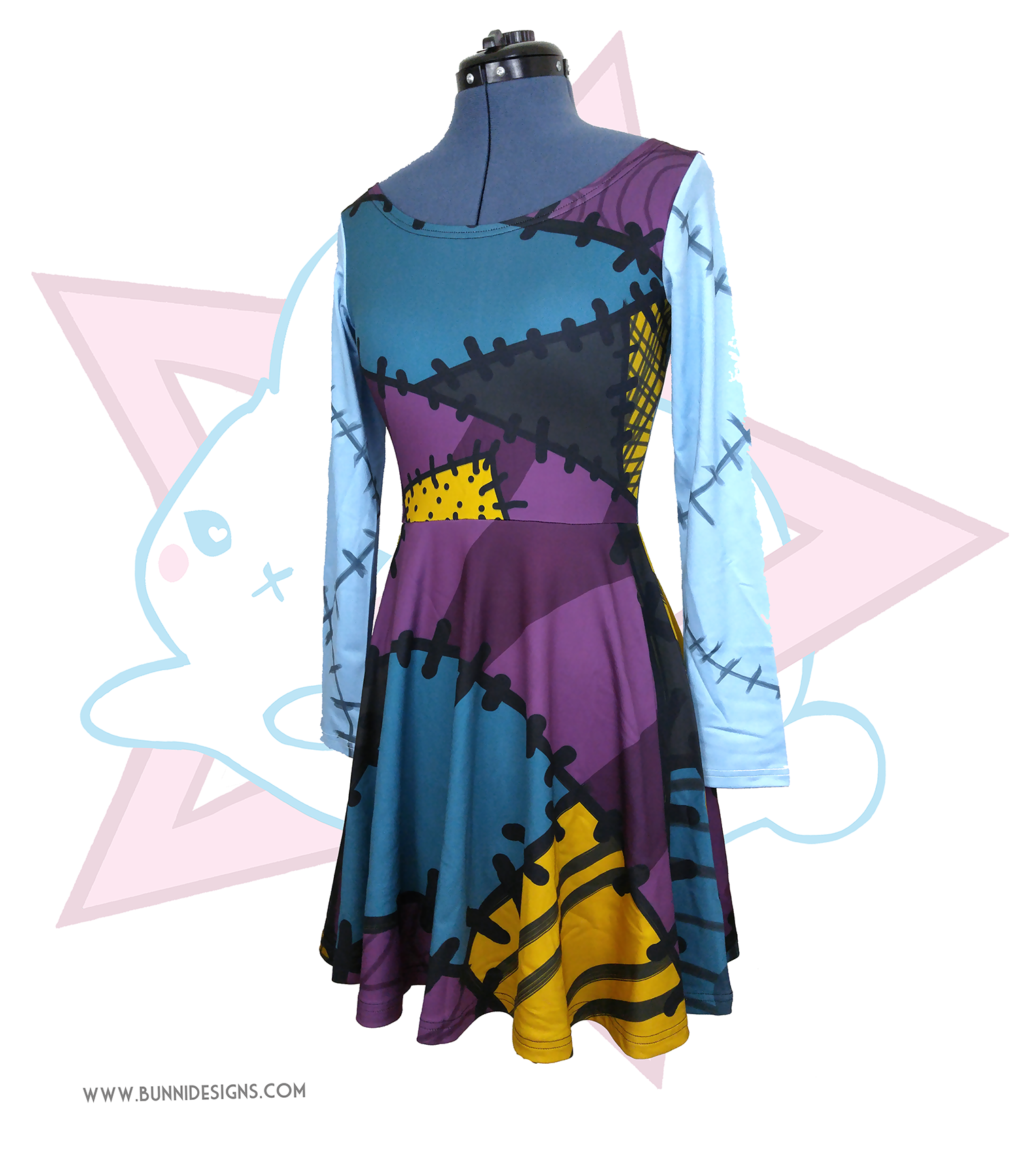 SALLY RAGDOLL PATCHES | SKATER DRESS | NIGHTMARE BEFORE CHRISTMAS ...