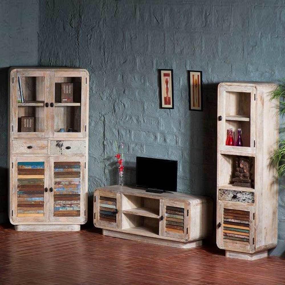 wohnzimmer wohnwand im loft style bunt 3 teilig jetzt. Black Bedroom Furniture Sets. Home Design Ideas