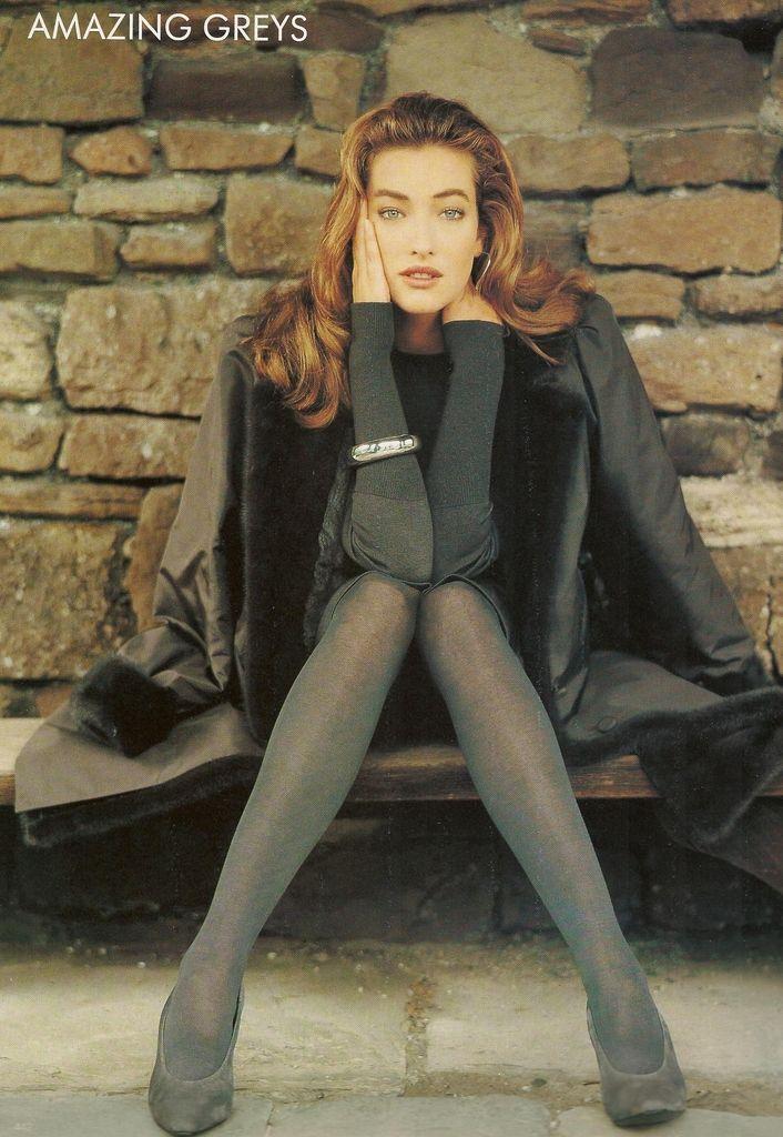 Amazing Greys I Vogue UK I October 1987 I Model: Tatjana Patitz   Photographer: Arthur Elgort.