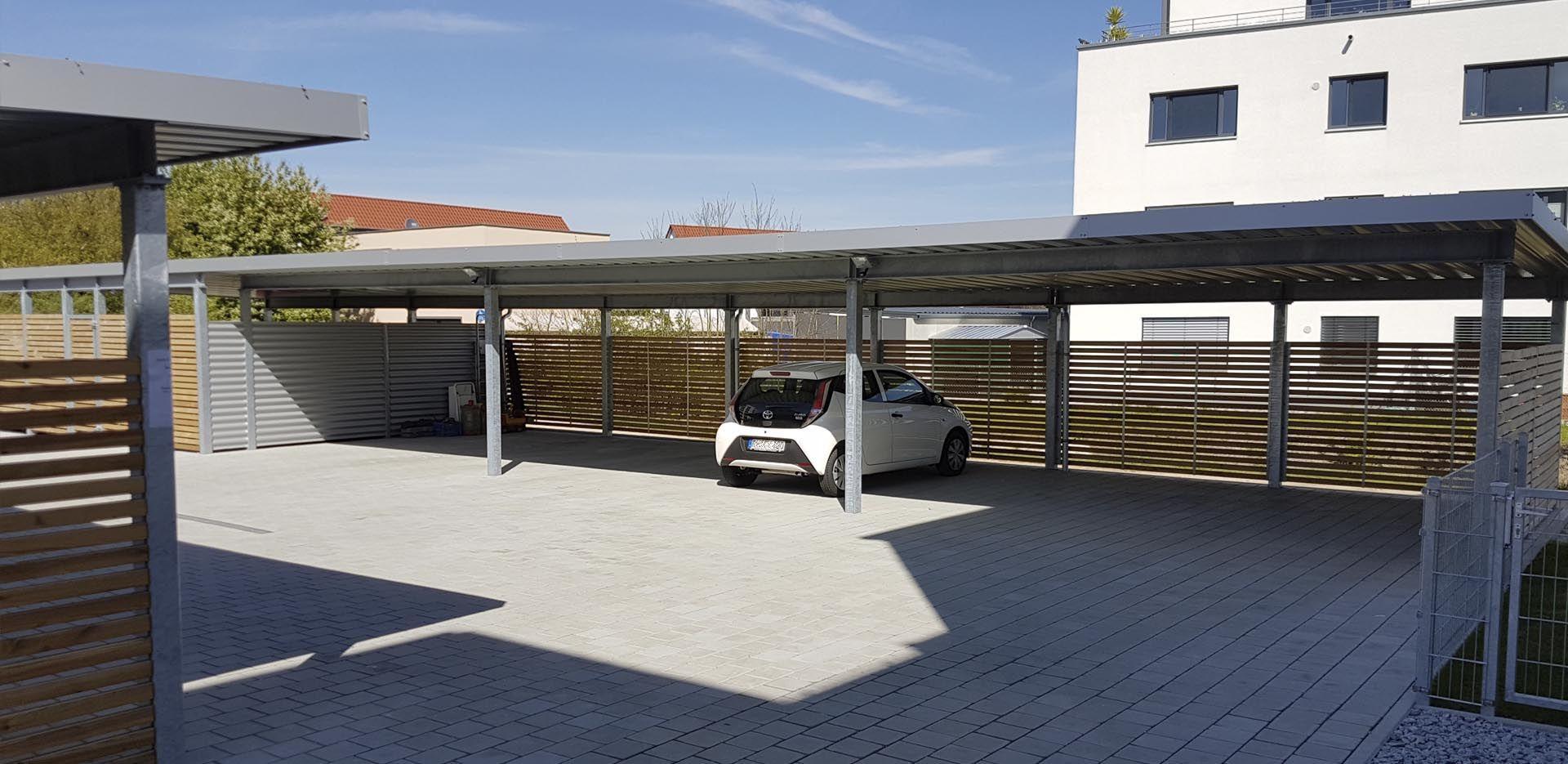 Einhausungen Mit Dach Com Imagens Garagem