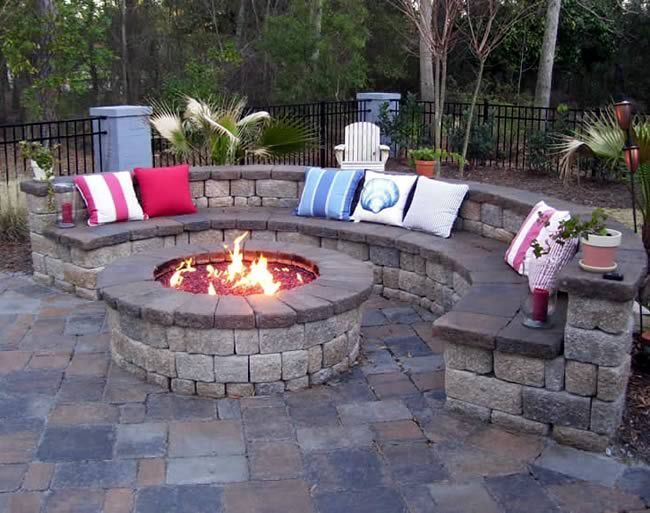Deluxe 25 Inch Fire Pit Kit with Electronic Ignition 150,000 BTU #patioandgardenideas