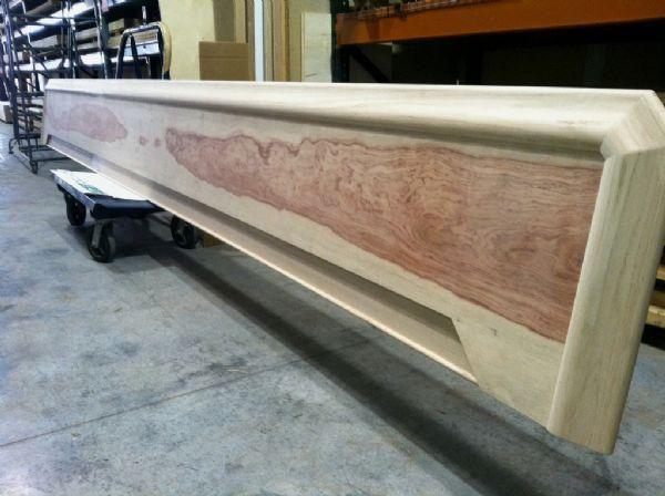 Custom Commercial Bar Top With Chicago Style Bar Rail Molding Custom Bar Top  Featuring Our Bubinga