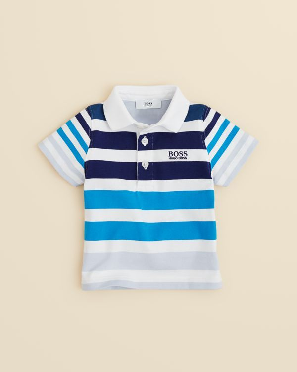 5b65c30f Hugo Boss Boys' Baby Jersey Stripe Polo Shirt - Sizes 2-3 | Baby ...