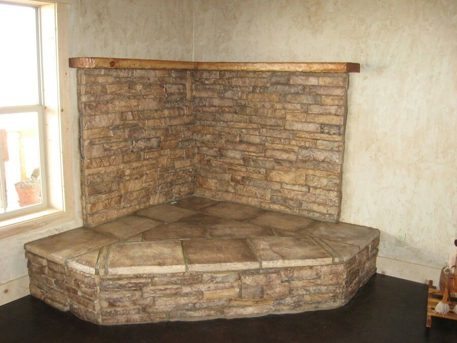 Hearth Pad Do It Yourself : Instead of stone use brick go all the way up and a