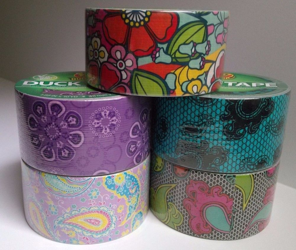5 duck brand mixed paisley flowers decorative duct tape