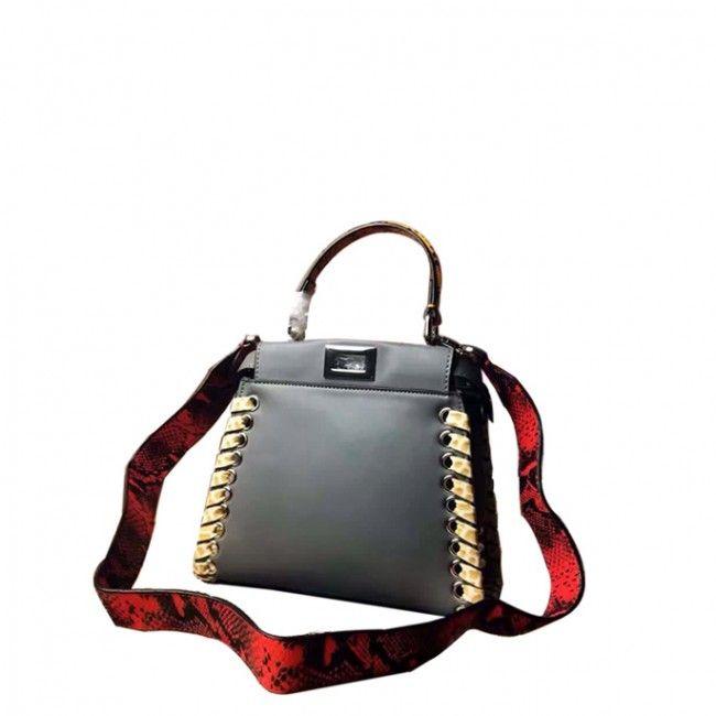 8068fbe604 Designer brand bags outlet best AAA high qualtiy replica Fendi peekaboo  fashionshow handbags grey leather