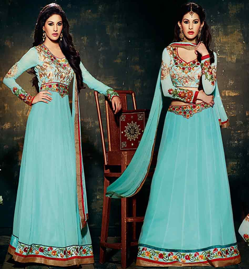 Amyra dastur new fashion dress can be made anarkali or chaniya choli ...