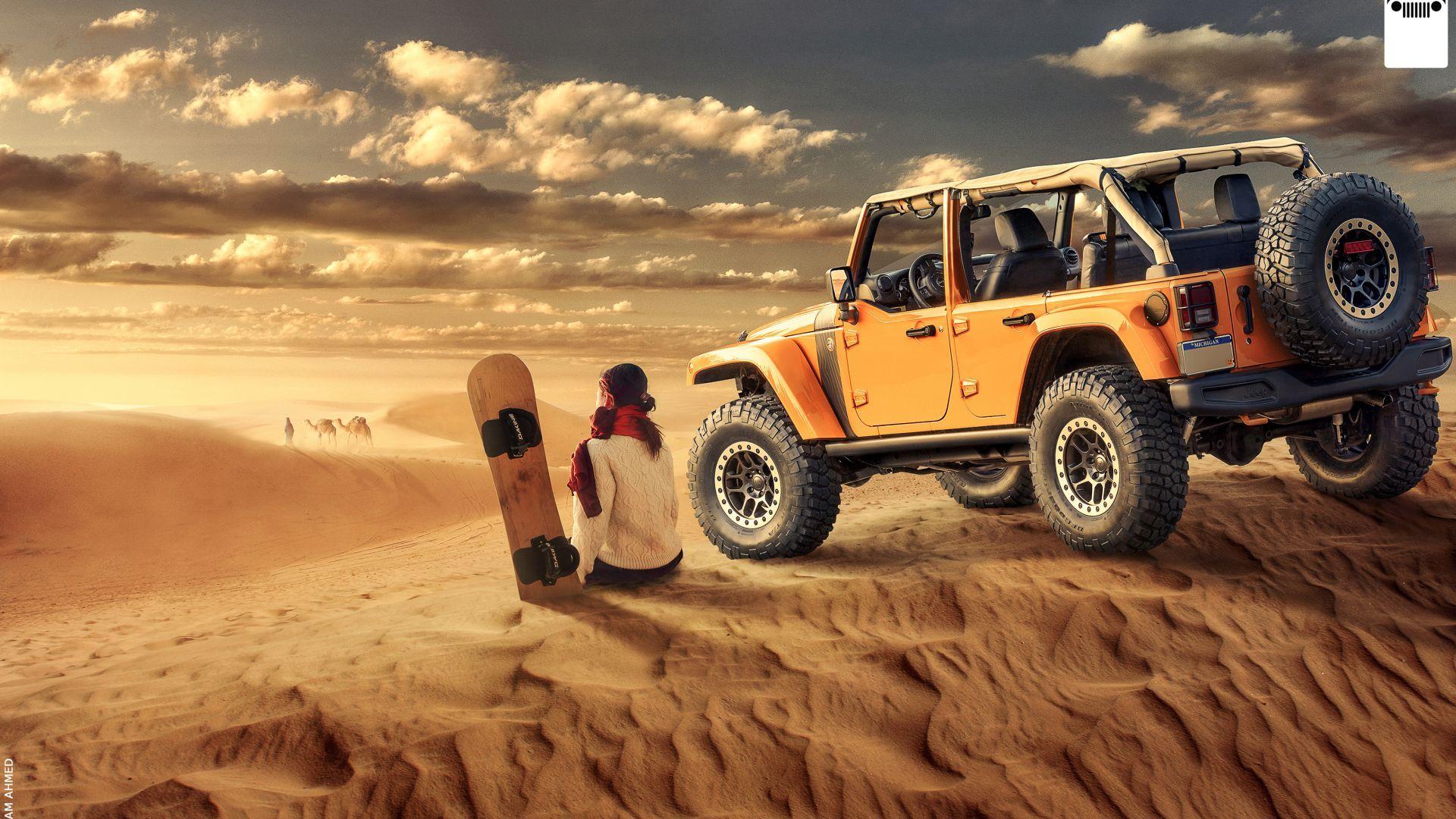 Jeep Wrangler Desert Off Roading Girl Hd Jeep Wrangler Jeep Wrangler Off Road Jeep
