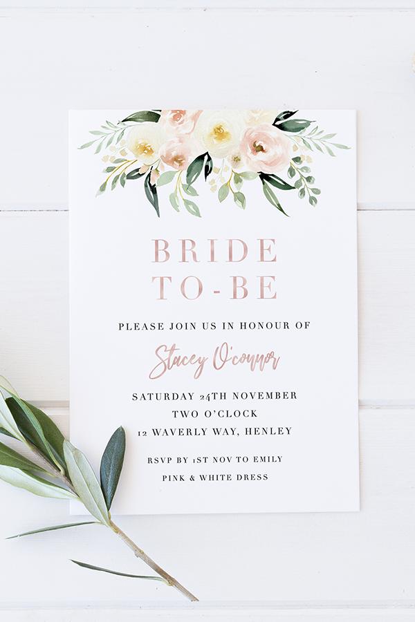 Printable Bridal Shower Invitation Kitchen Tea