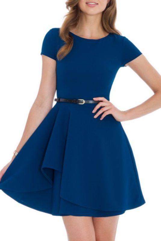 50e5170e31 Vestido doble volantes frontal turquesa -mayorista de moda mujer-mayorista de  ropa mujer-ropas mujer al por mayor-ropa hecha en Europa-Cabo Calleja