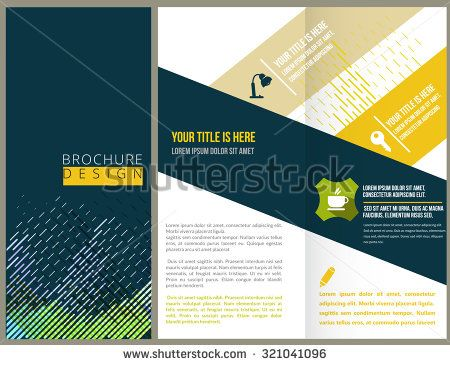 Vector Brochure Layout Design Template  University