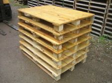 1x Einwegpalette 120x80cm Palette Paletten Holzpalette Masse Wie