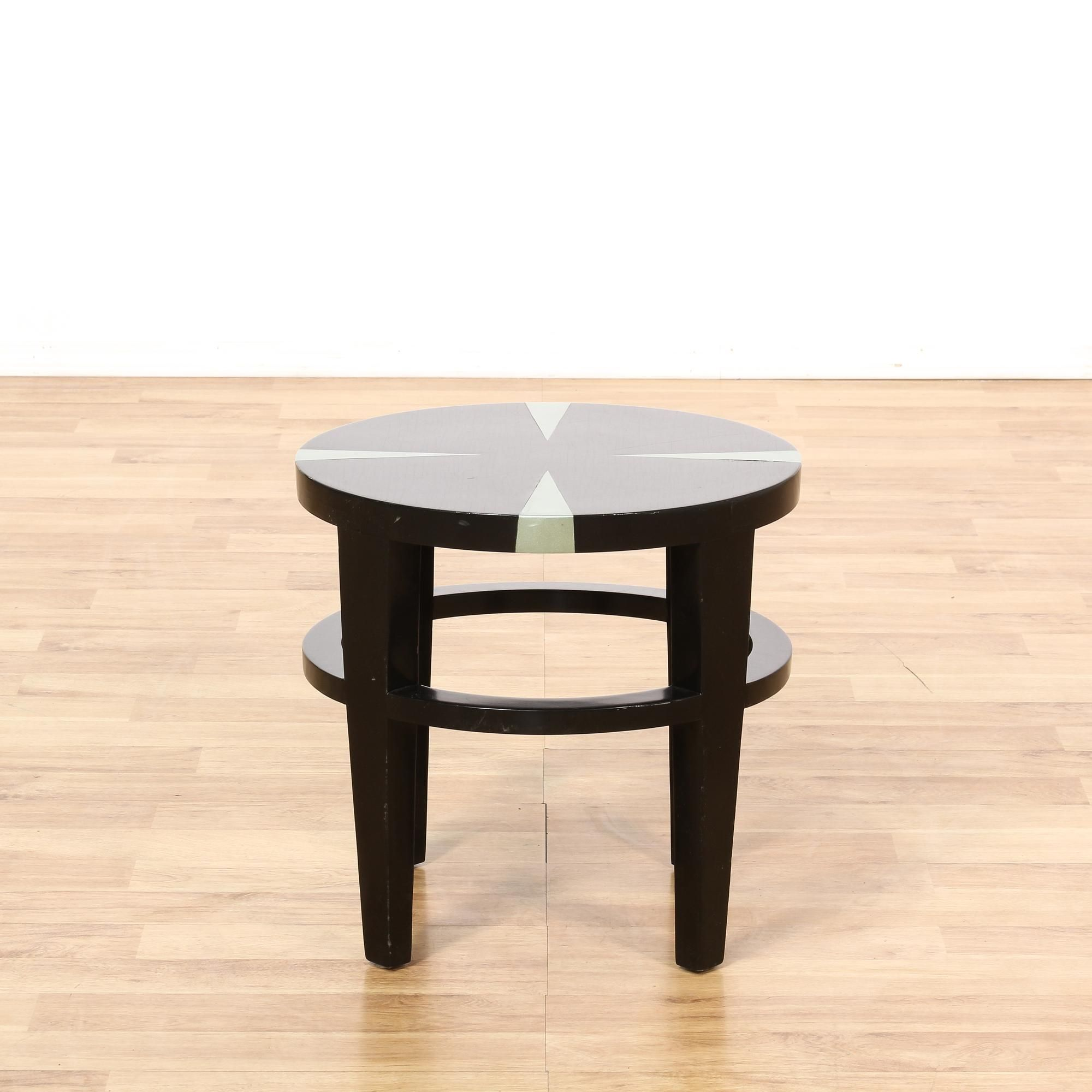 This Art Deco End Table Is Featured In A Solid
