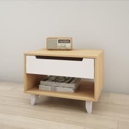 Table De Nuit 1 Tiroir Mobilier Quebec Contemporary Nightstand White Nightstand Bedside Tables Nightstands