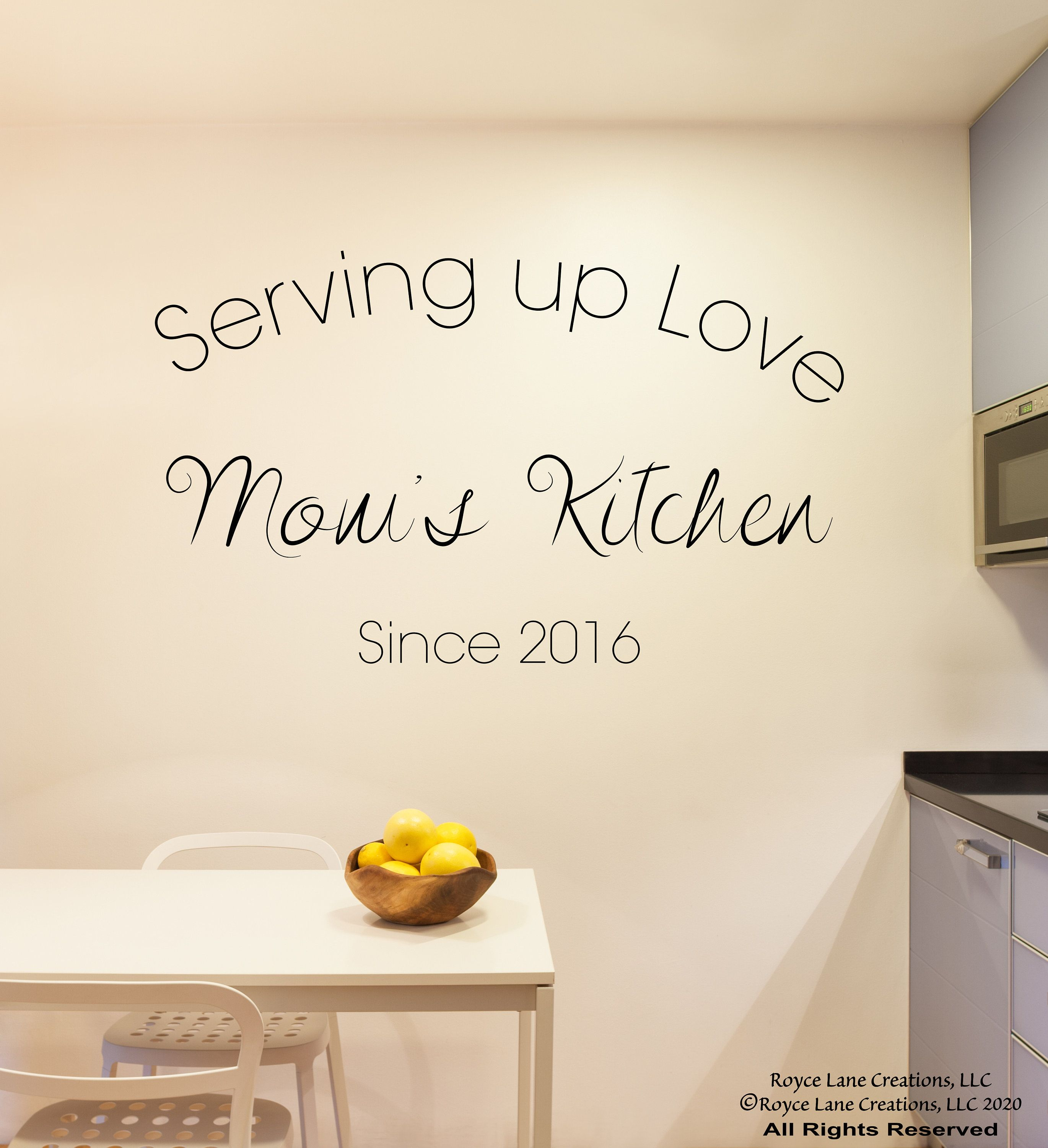moms kitchen wall decal mom kitchen decal personalized on wall of moms id=55005