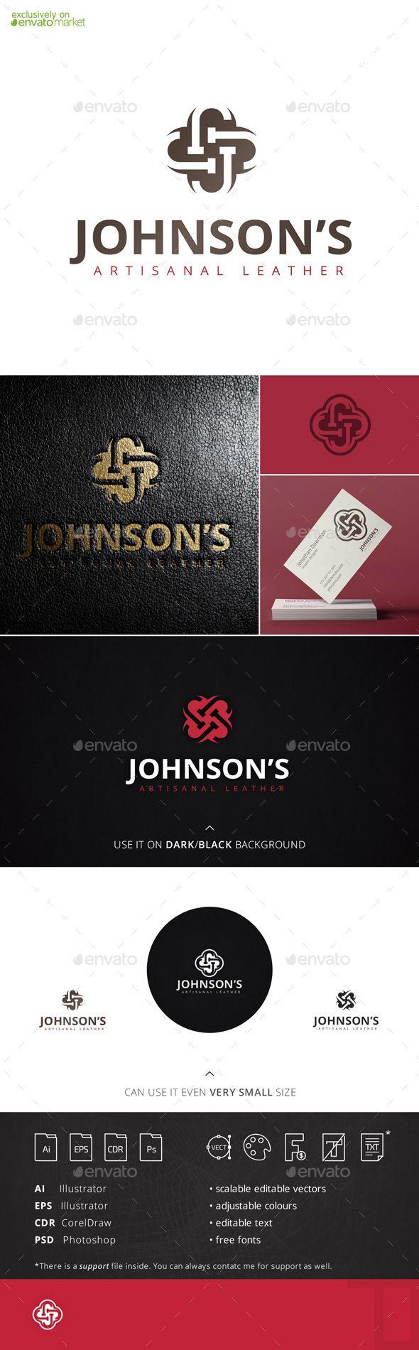 Johnsons Letter J Logo Template Hand lettering logo