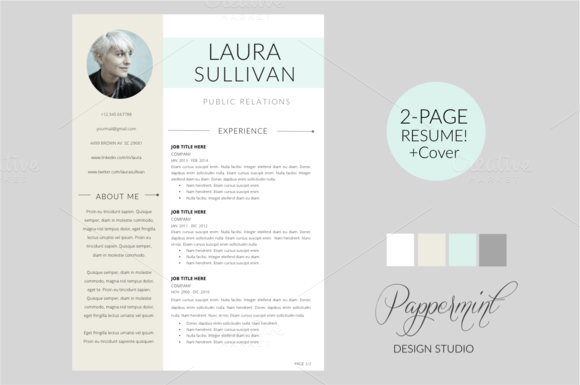 Check Out Resume Template  Cover Letter Word By Pappermint On