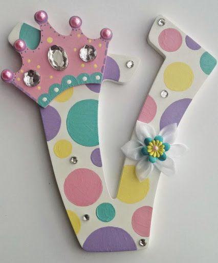 N meros e letras decorados biscuit e arte arte lbuns - Letras decorativas para ninos ...