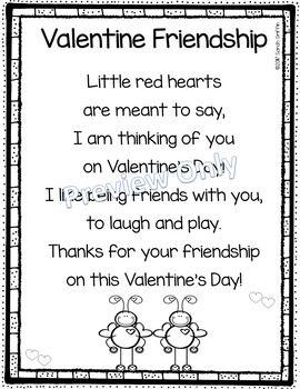 valentine friendship poem for kids kindergarten themes valentines day poems friendship. Black Bedroom Furniture Sets. Home Design Ideas