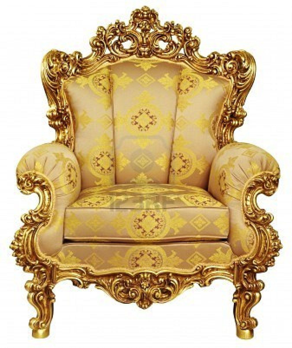 the golden chair. image detail for high resolution isolated gold elbowchair