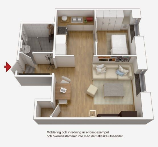 Pequeno Apartamento Mobiliado Para Alugar Que Ver Como é? Diseño