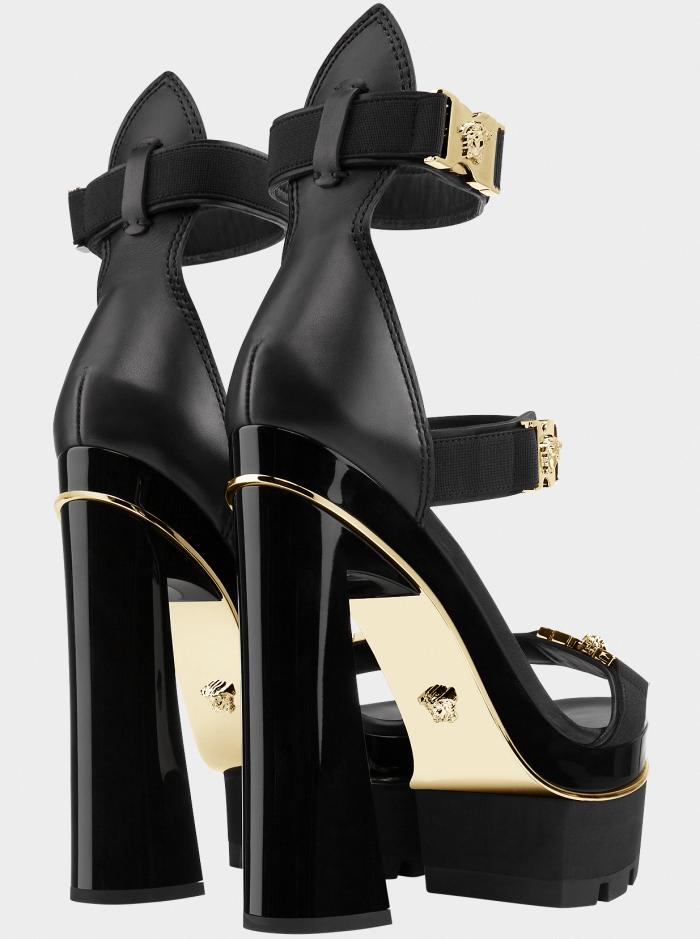 "2465458fad1b Versace ""Medusa"" Tri-Strap Platform Sandals  Platformhighheels ..."