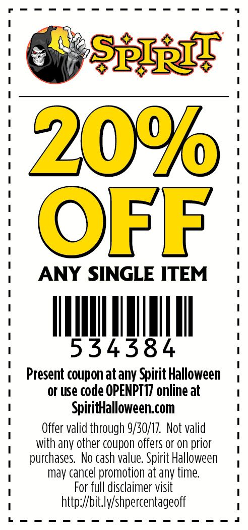 spirit halloween stores are creeping up use this coupon to save at your local store - Spirit Halloween 50 Off Coupon